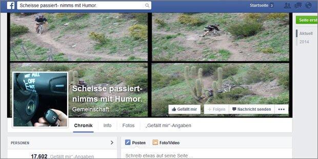 Facebook-Seite zeigt Mega-Pechvögel
