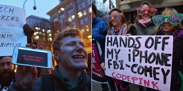 Streit mit FBI: Pro-Demo für Apple