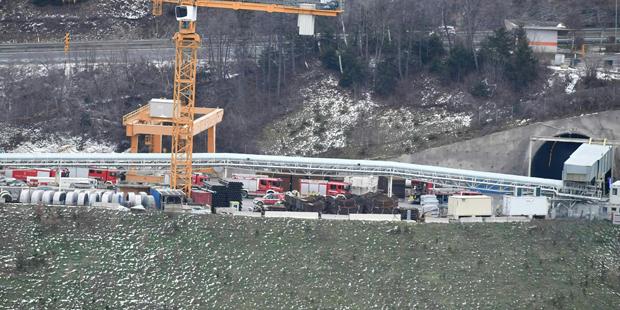 Großeinsatz nach Feuer in Brennerbasistunnel