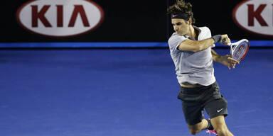 Federer fixiert 39. Viertelfinal-Einzug