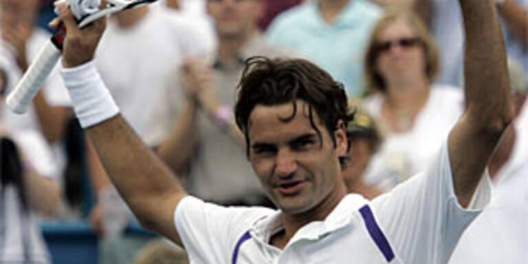Federer feiert ersten Sieg