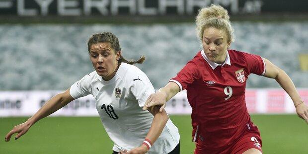 Bitter: ÖFB-Frauen nur 1:1 gegen Serbien