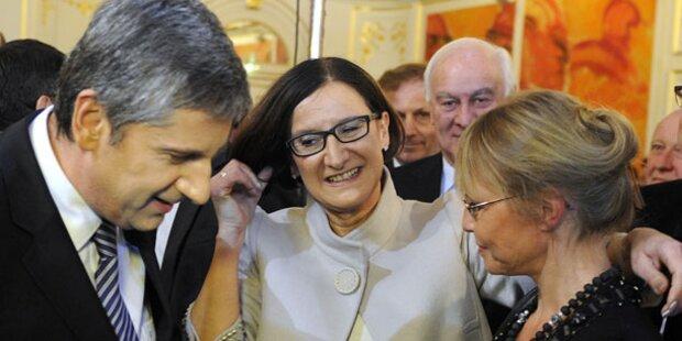 ÖVP feiert mit Gulasch und Käsespätzle