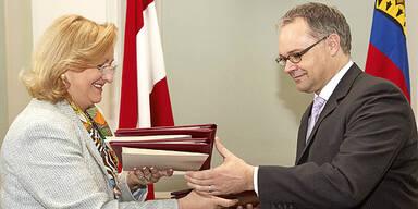 Finanzministerin Maria Fekter und Regierungschef von Liechtenstein, Klaus Tschütscher