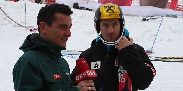 Hirscher scherzt mit ORF-Felber