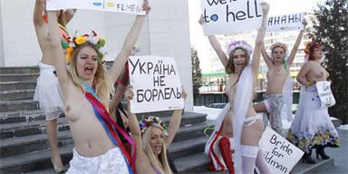 Nackter Protest gegen Heiratsshow