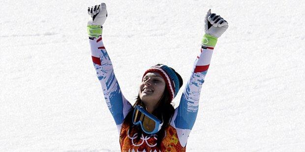 Willkommensfeier für unsere Olympiasiegerin