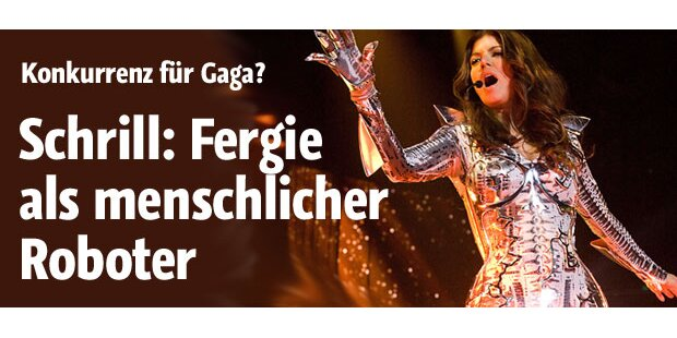 Schrill: Fergie als menschlicher Roboter