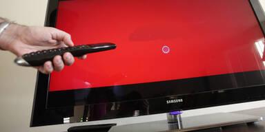 Analoges TV-Signal wird abgedreht