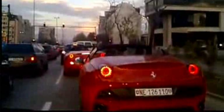 Bulgare rast mit seinem Ferrari in Gegenverkehr