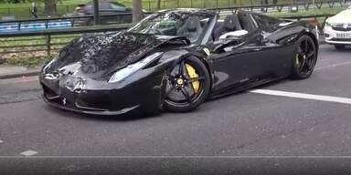 Zwei Ferraris und BMW M6 in Unfall verwickelt