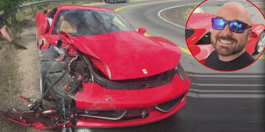 Junger Angeber schrottet gemieteten Ferrari