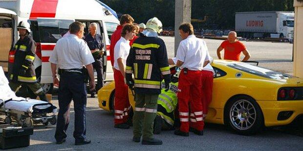 Bei Probefahrt: Crash mit Ferrari