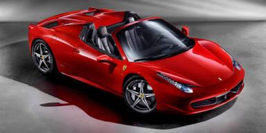 Weltpremiere des Ferrari 458 Spider