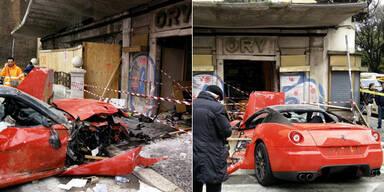 Garagenwärter schrottet sündteuren Ferrari