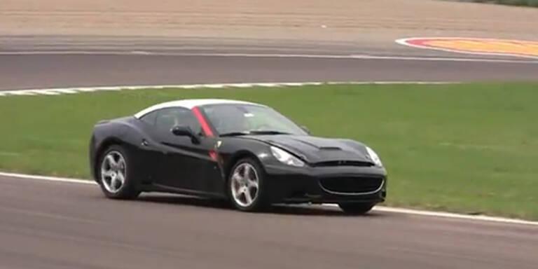 Ferrari-Prototyp mit Turbo-Motor erwischt