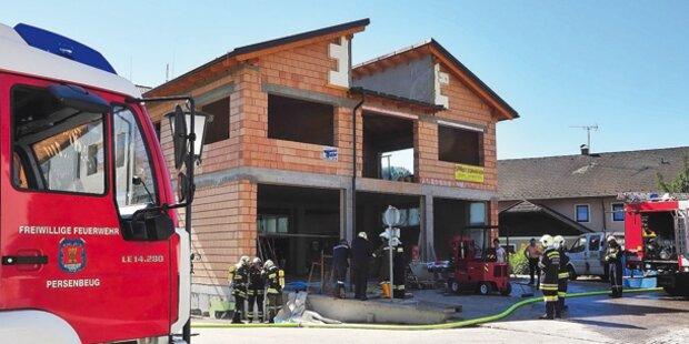 Feuerwehr löschte eigenes Haus
