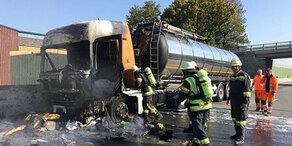 Zweiter Unfall auf A1: LKW-Brand