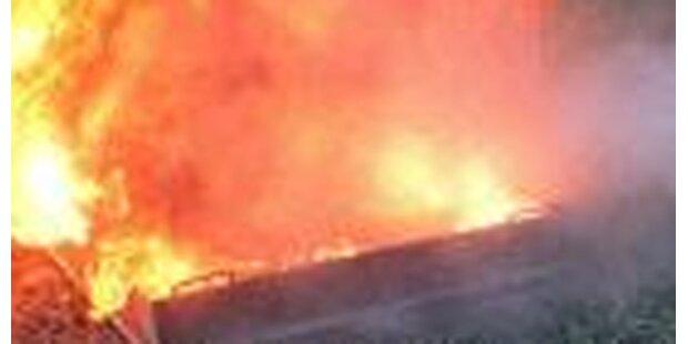 13-Jähriger löscht Garagenbrand