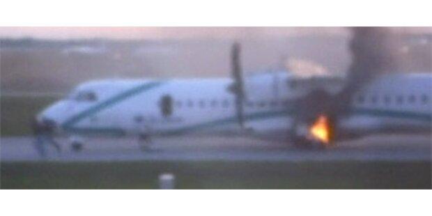 Air-Dolomiti-Maschine fängt Feuer in München