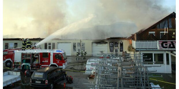 Fast 1 Mio. Euro Schaden durch Feuer