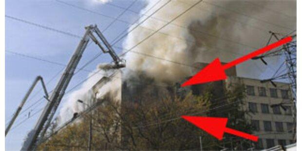 Sieben Tote bei Großbrand in Moskau