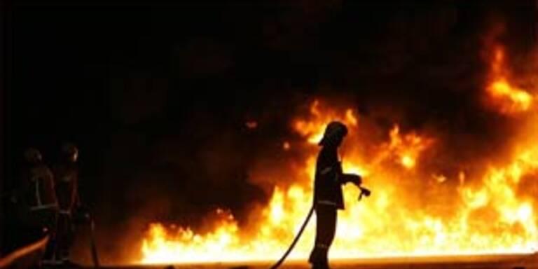 Jagdhütte in Brand gesetzt