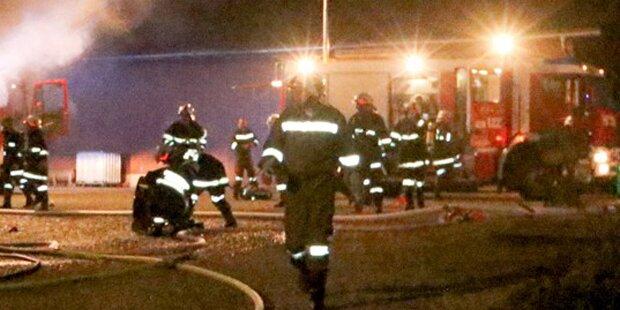 Großeinsatz bei Brand in Misttrocknungsanlage