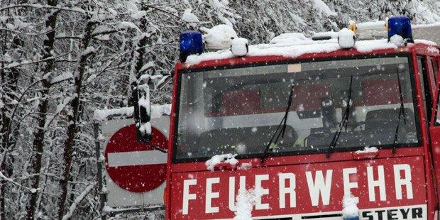 Feuerwehr-Großeinsatz bei Brand im Waldviertel