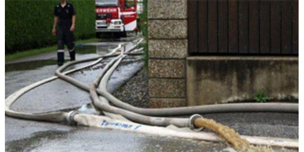 Starkregen hält Vorarlberger Feuerwehr in Atem