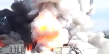 Quebec: Feuerwerk-Fabrik brennt ab