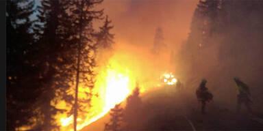 Waldbrände: Situation weiter angespannt