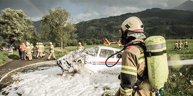 Flugzeug-Absturz: 4 Verletzte