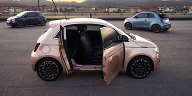 Fiat 500e: 3+1-Türer und Basismodelle starten