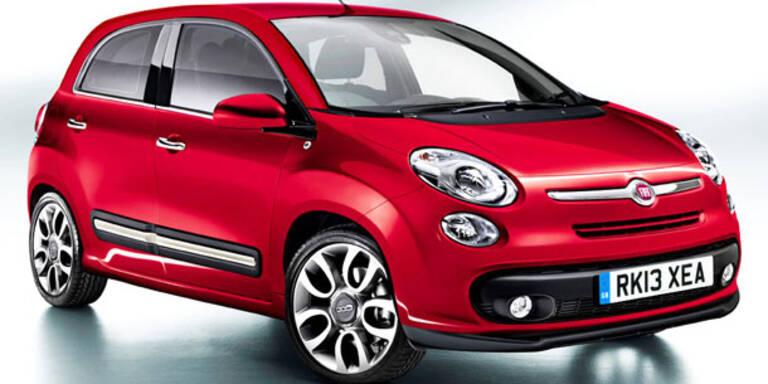 Fiat 500 mit 5 Türen ersetzt den Punto
