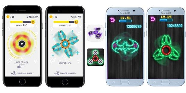 Fidget-Spinner-Apps stürmen Download-Charts