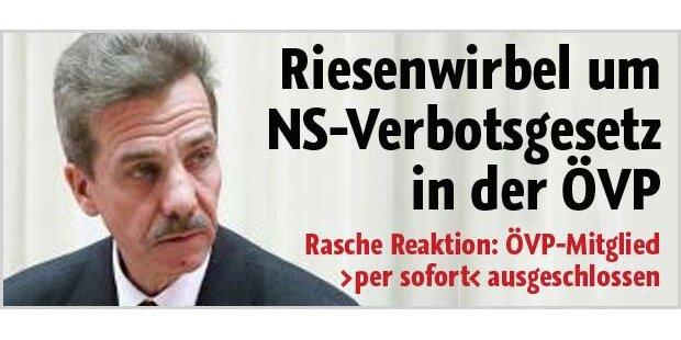 Riesenwirbel um NS-Verbots-gesetz in ÖVP