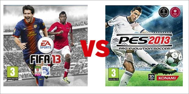 FIFA 13 gegen PES 2013 im oe24.at-Test