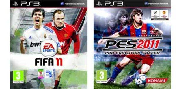 Der Vergleich: PES 2011 gegen FIFA11
