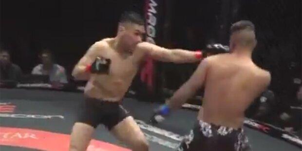 MMA-Fighter schlagen sich gleichzeitig K.O.