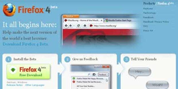 Neue Beta des Firefox 4 verfügbar