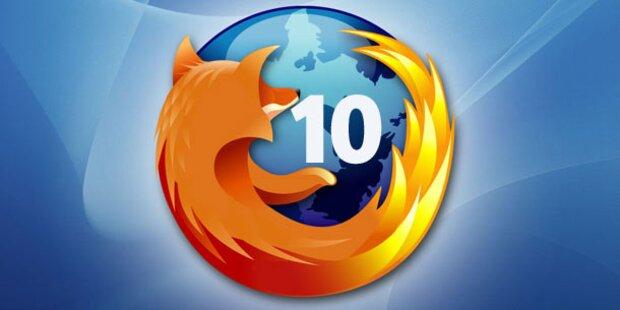 Firefox 10 ab sofort zum Download