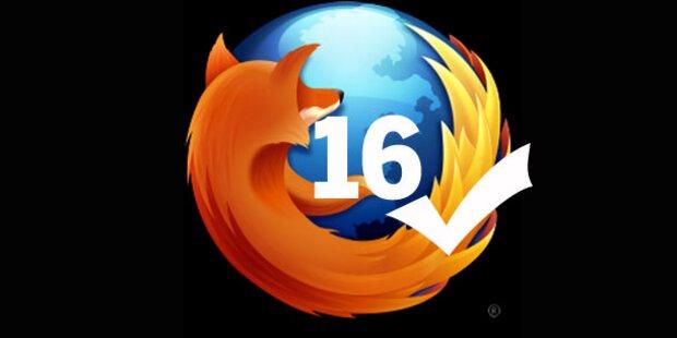 Firefox 16 ist wieder verfügbar