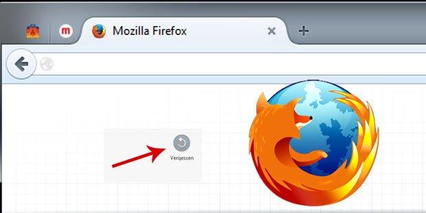 """Neuer Firefox hat einen """"Vergessen-Button"""""""