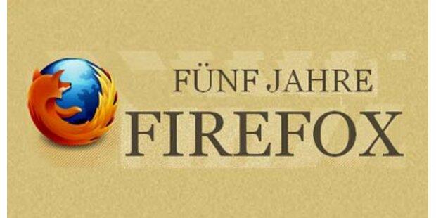 Firefox feiert seinen fünften Geburtstag