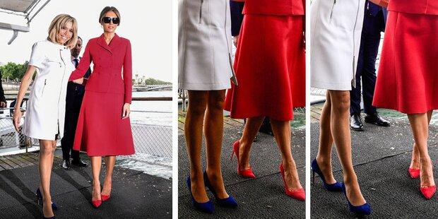 Das Bein-Duell der First Ladys