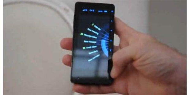 Handy mit revolutionärer Touch-Bedienung