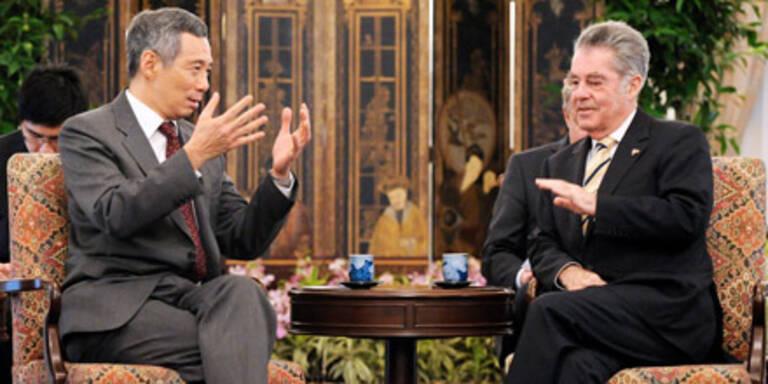 Bundespräsident Fischer in Singapur