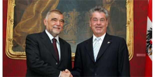 Kroatiens Präsident traf Bundespräsident Fischer