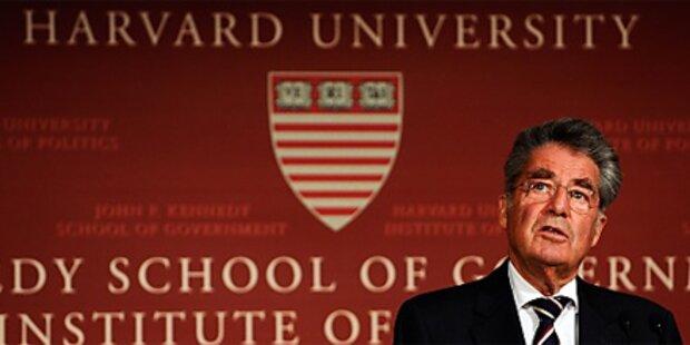 Fischer an US-Eliteuni Harvard